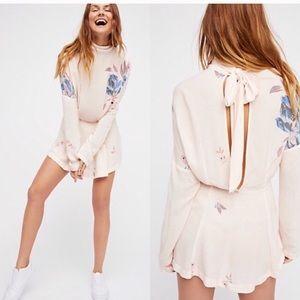 Free People High Neck Tunic/Mini Dress, Size Small